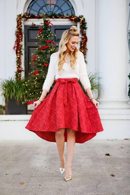 look noel rouge et blanc