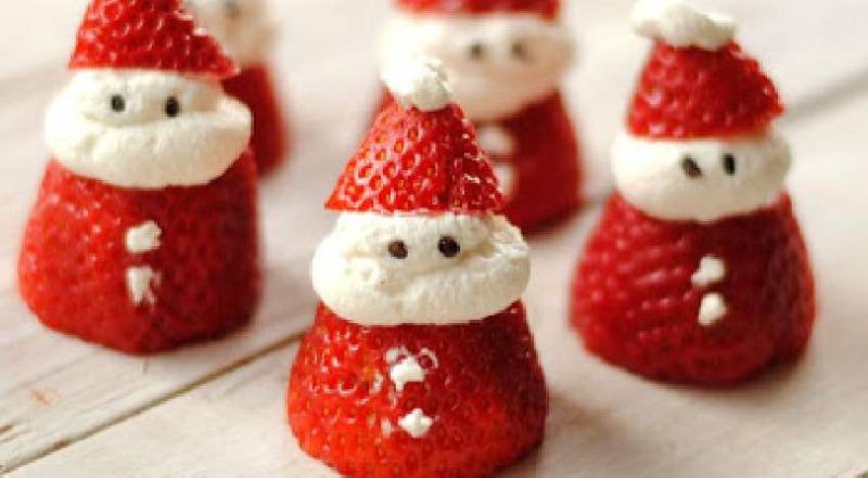 pere noel fraise chantilly