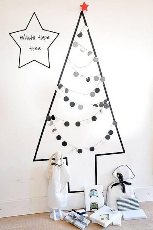 Arbre de Noël monochrome
