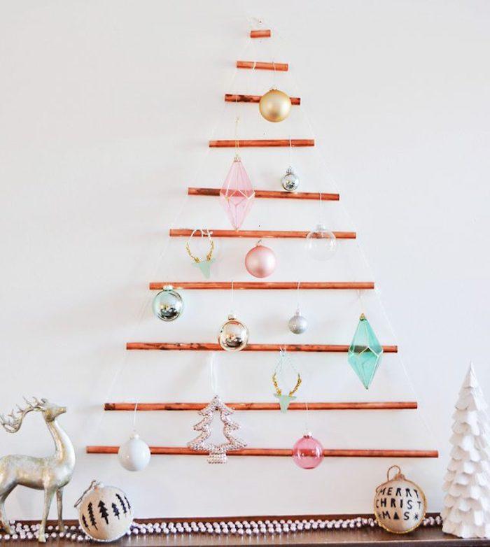 Sapin mural DIY : 50+ idées de sapin de Noël