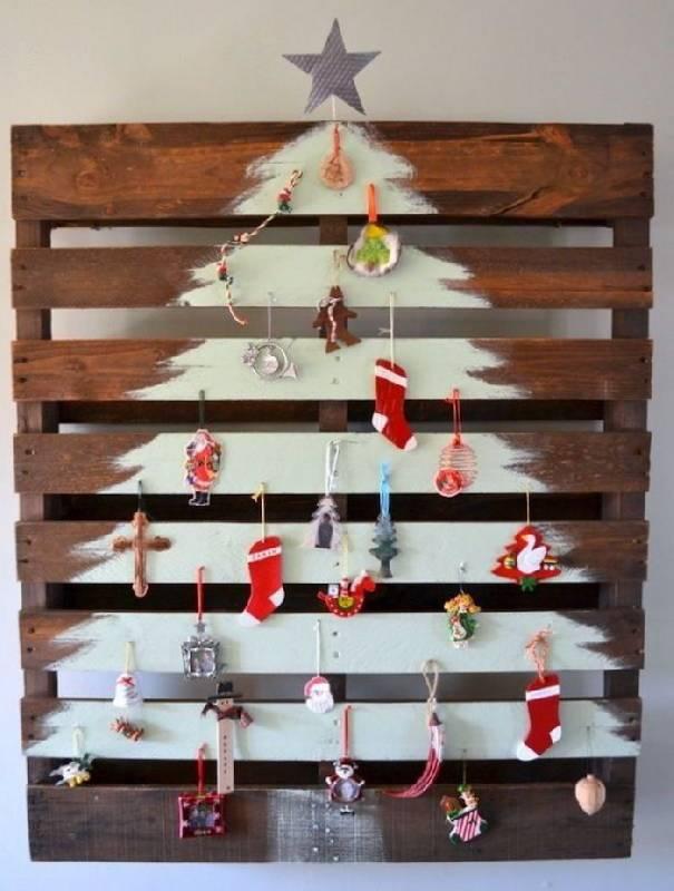 L'arbre de Noël sur la palette