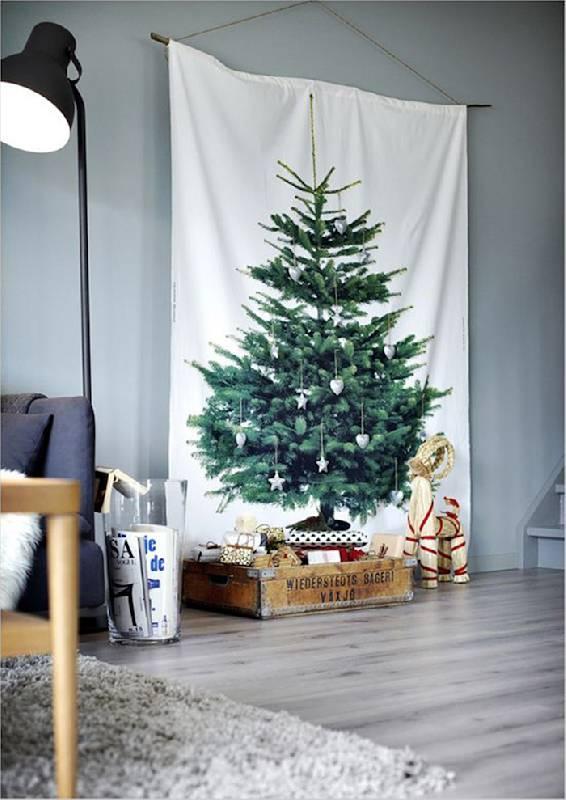 Arbre de Noël avec tissu