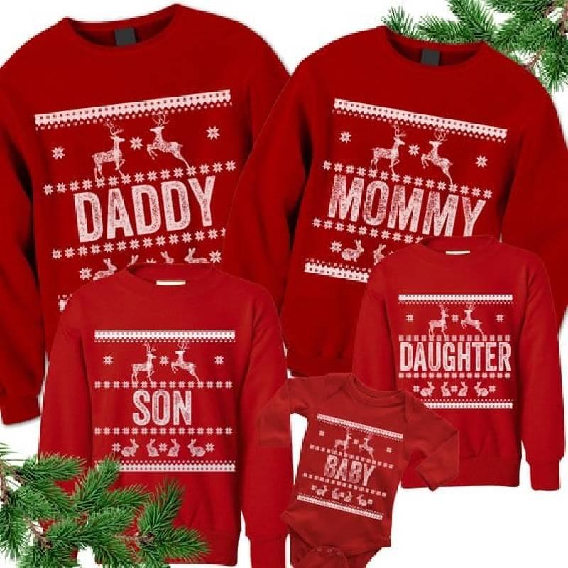 Pull de Noël pour toute la famille élargie