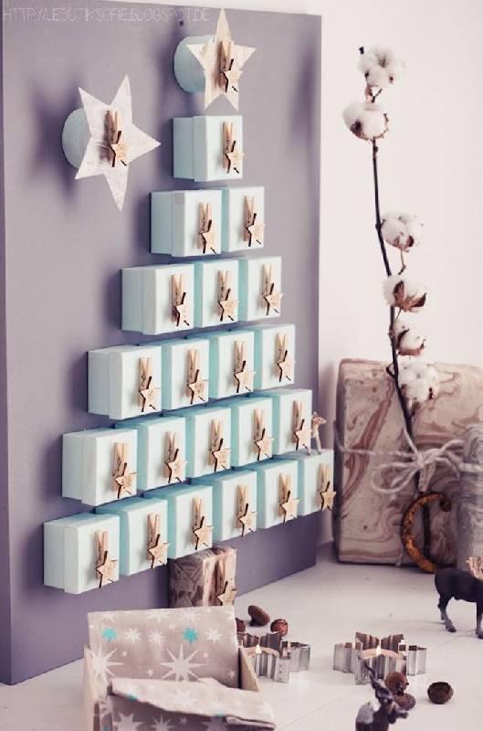 Arbre de Noël avec des boîtes