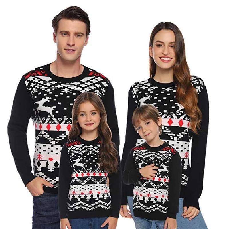 Pull de Noël famille classique